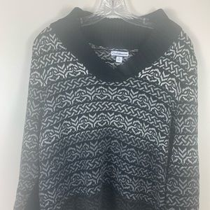 croft & barrow Sweaters - Black and gray sweater by Croft & Barrow size XL